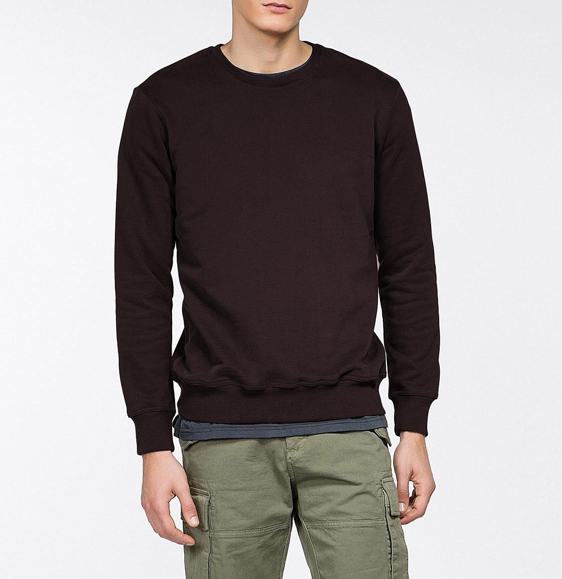 Crew Neck Sweatshirt Burgundy