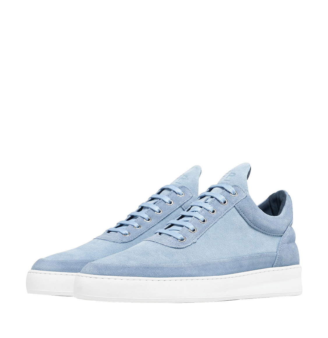 Filling Pieces Low Top Plain Cape Suede Blue