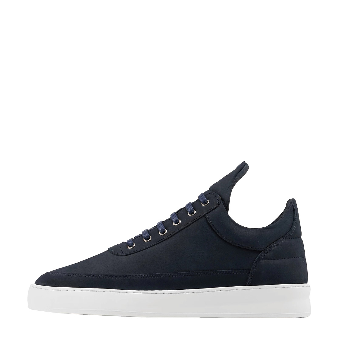Filling Pieces Low Top Plain Lane Nubuck Navy