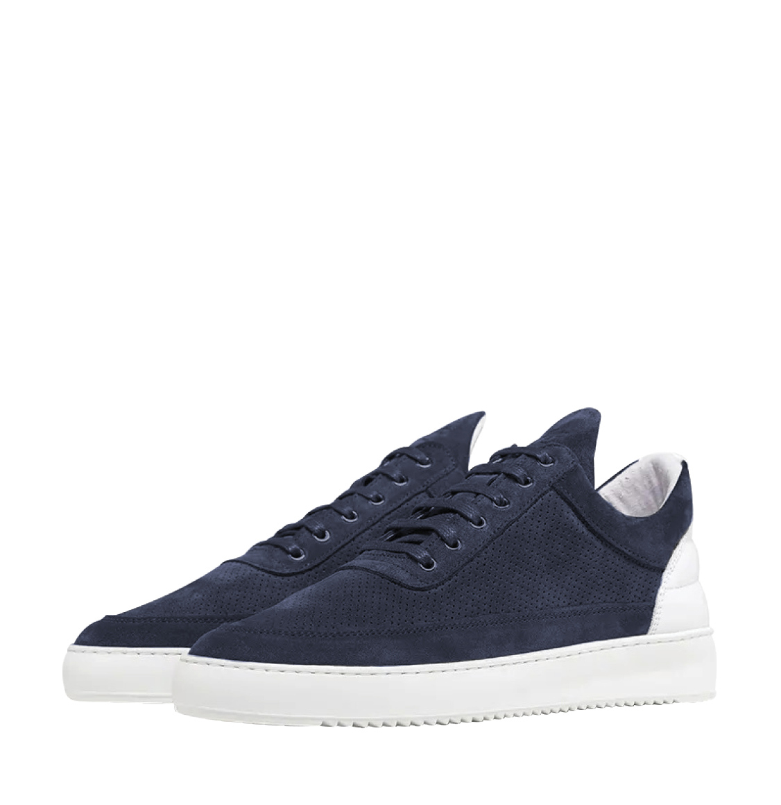 Filling Pieces Low Top Ripple Perforated Navy