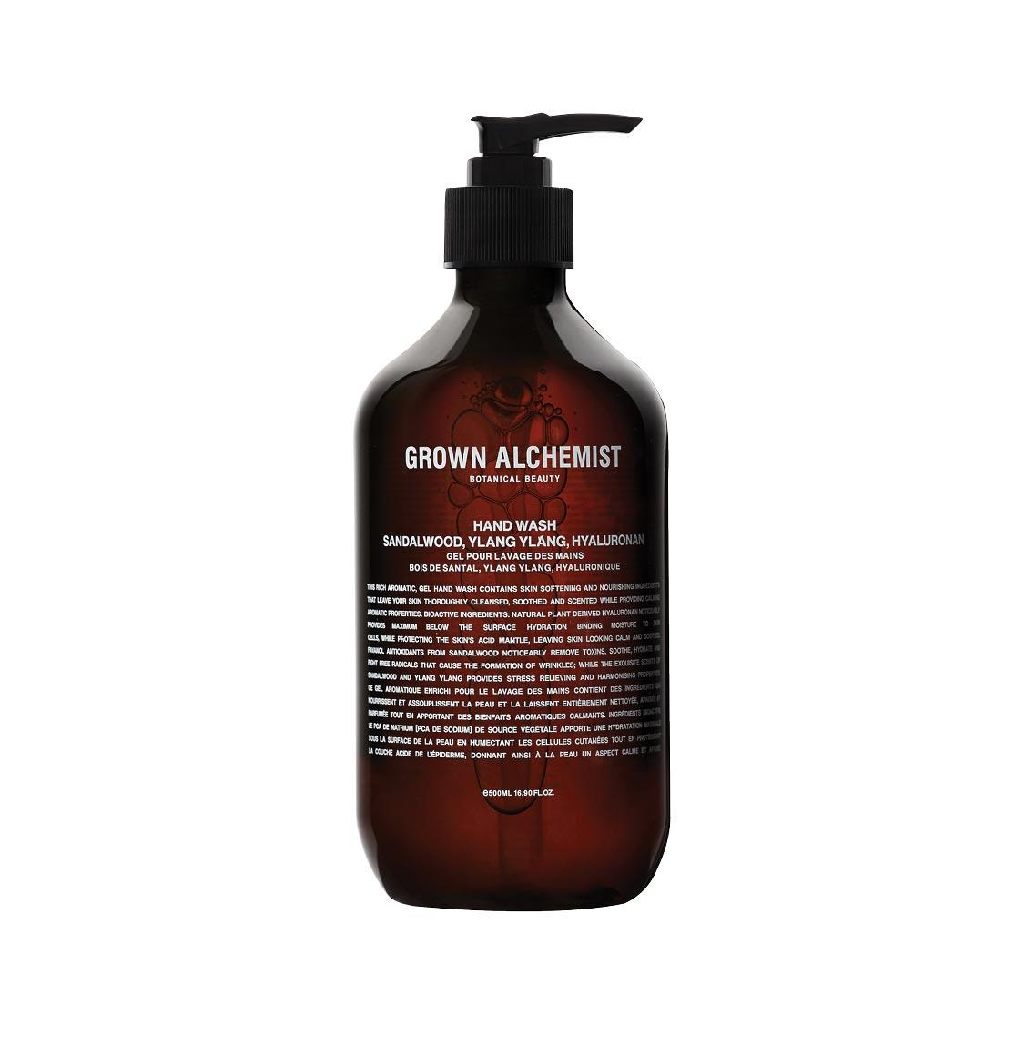 Grown Alchemist Hand Wash Sandalwood Ylang Ylang and Hyaluronan 500ml