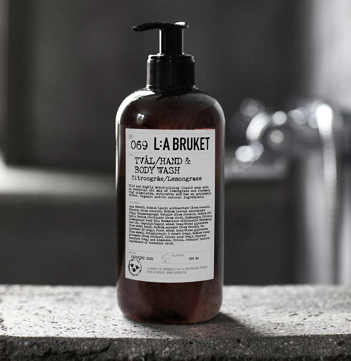 LA Bruket Hand and Body Wash Lemongrass 250ml