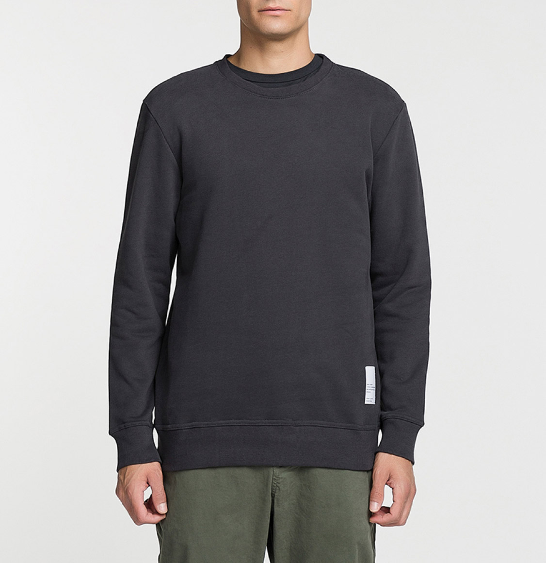 Logomania Crew Neck Sweatshirt Charcoal Grey