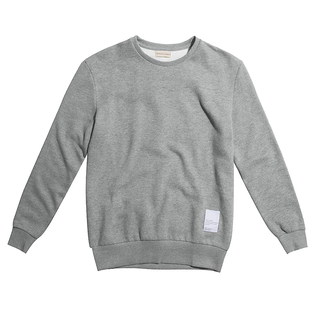 Logomania Crew Neck Sweatshirt Melange Grey