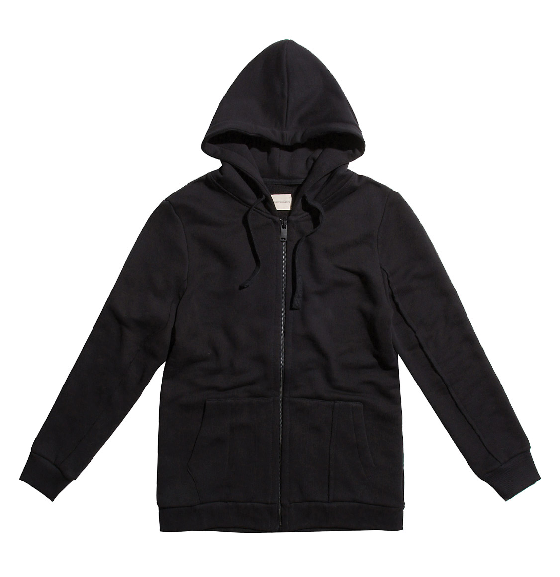 The Project Garments Loopback Cotton-Jersey Zip-Up Hoodie Black