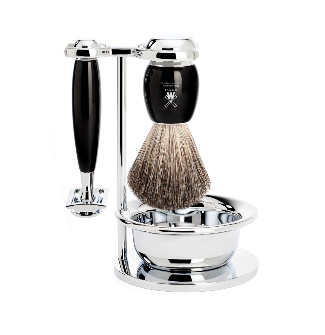 Muhle Vivo Shaving Set Pure Badger Brush With Safety Razor and Bowl