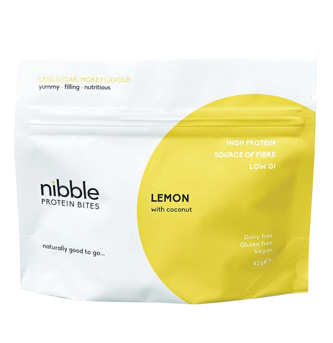 Nibble Protein Lemon Protein Bites With Coconut 42g