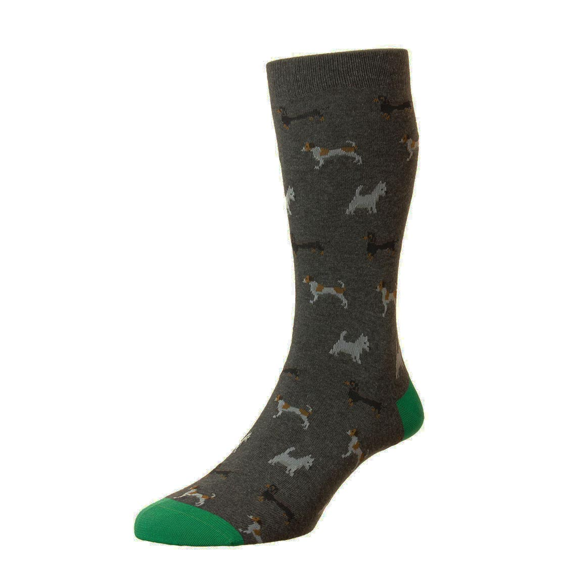 Pantherella Scott-Nichol Socks Doyle Charcoal Melange