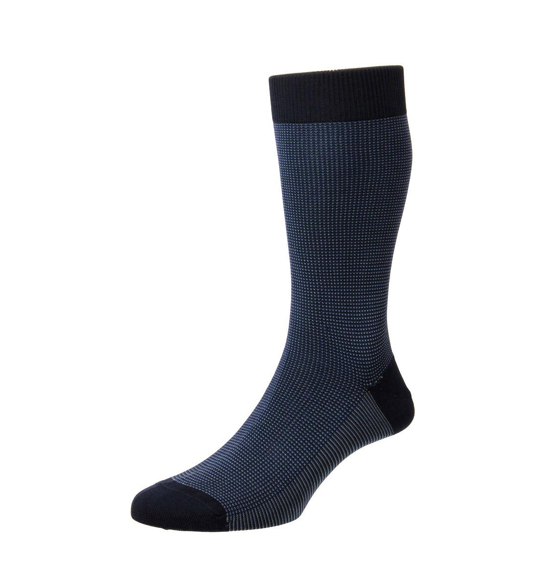 Pantherella Socks Tewkesbury Birdseye Navy