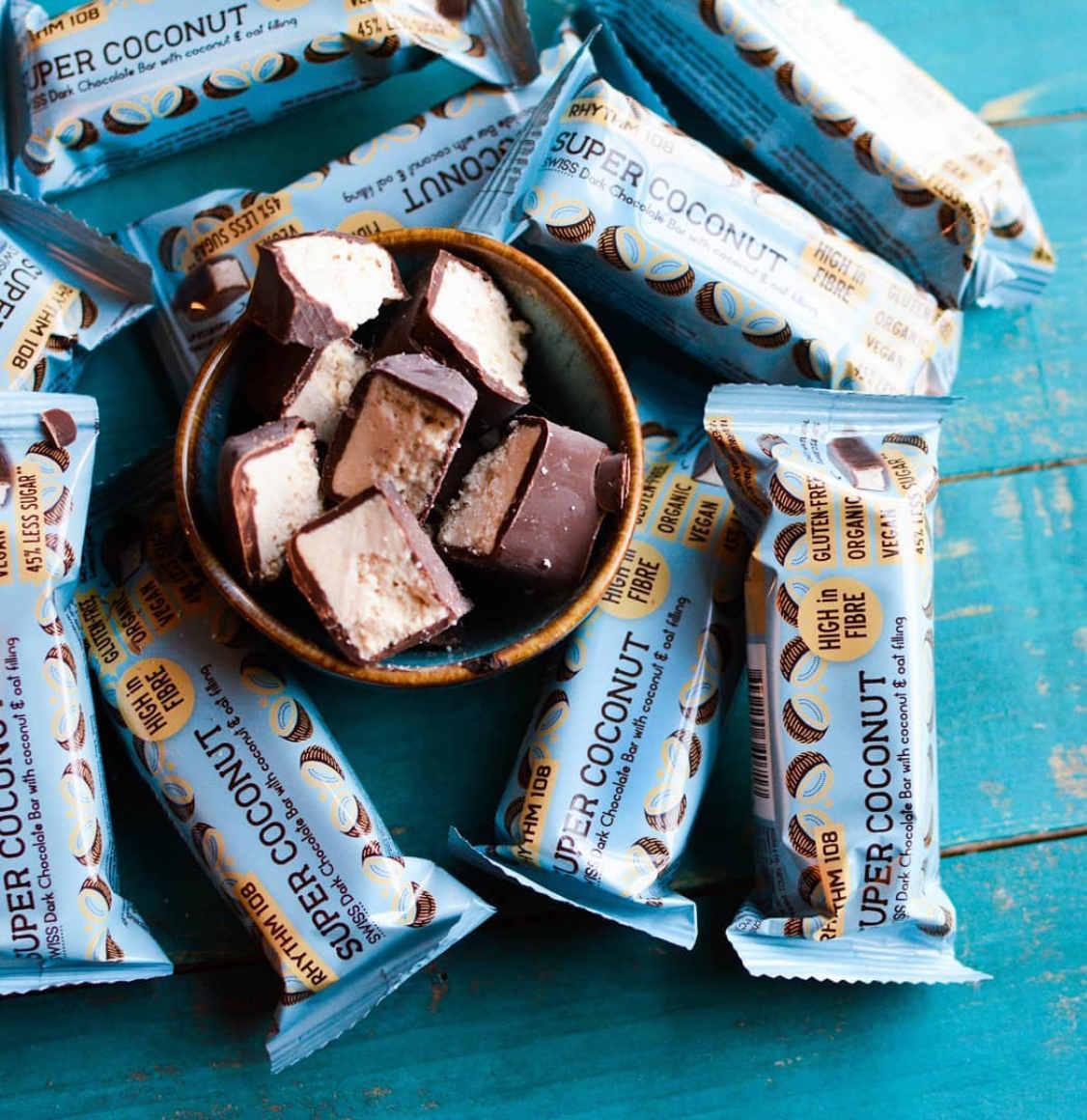 Rhythm 108 Swiss Dark Chocolate Coconut Bar 5 x 33g