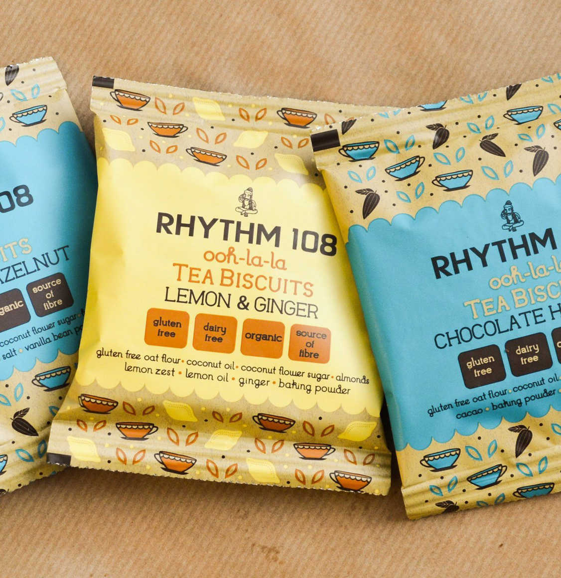 Rhythm 108 Lemon and Ginger Biscuits 5 x 33g