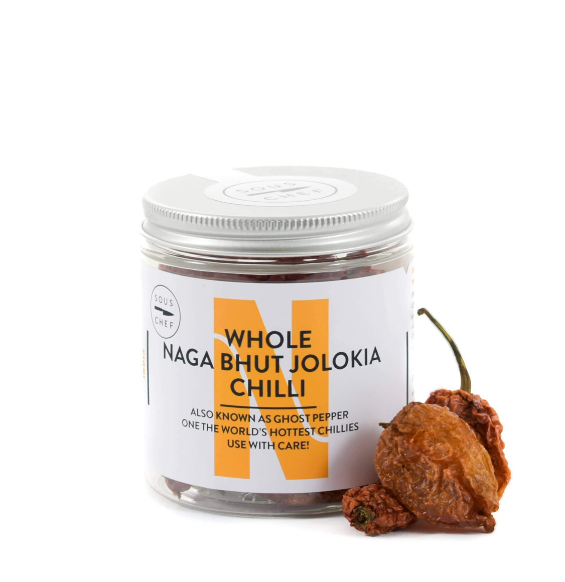 Sous Chef Whole Naga Bhut Jolokia Chilli 20g