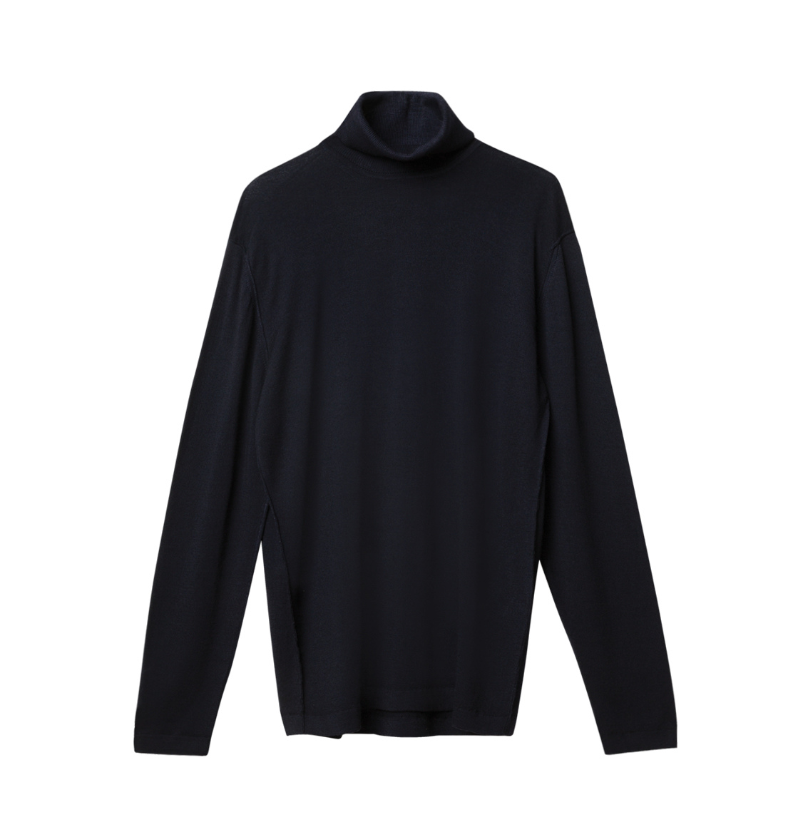 Wool Rollneck Sweater Navy Blue