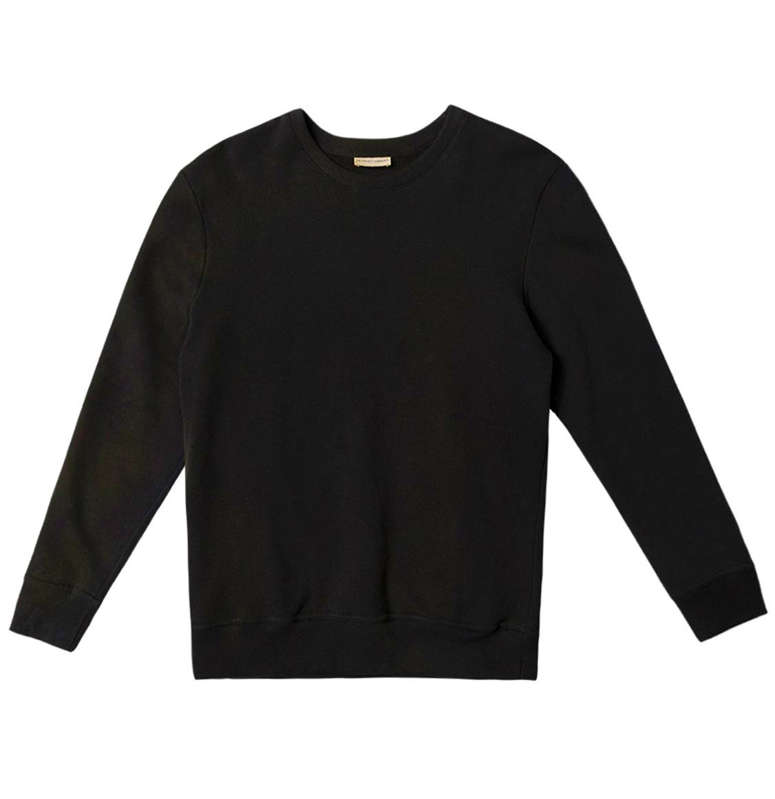 Acid Dye Organic Cotton Crew Neck Sweatshirt Black