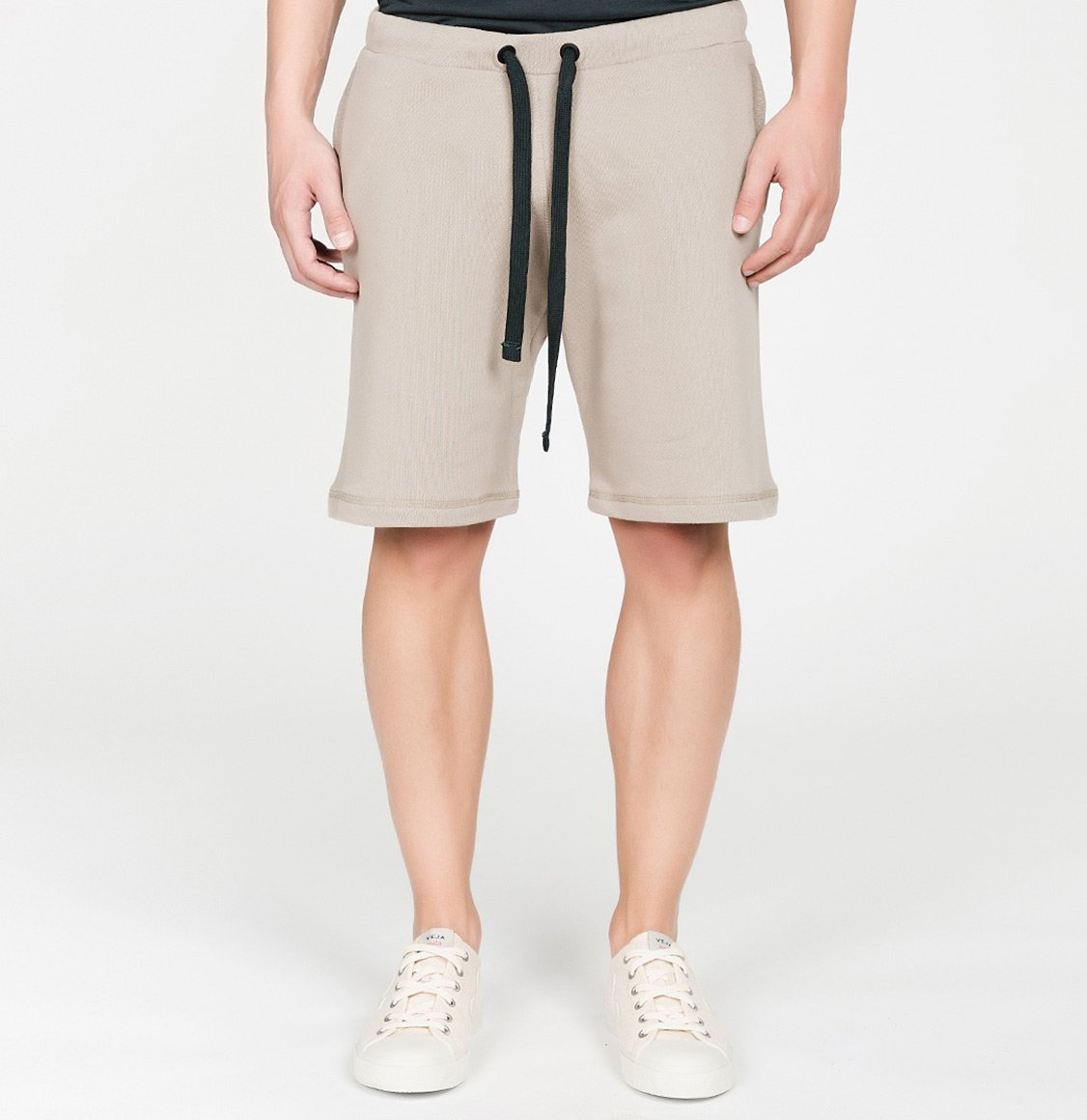 The Project Garments Loopback Cotton Jersey Relaxed Shorts Beige