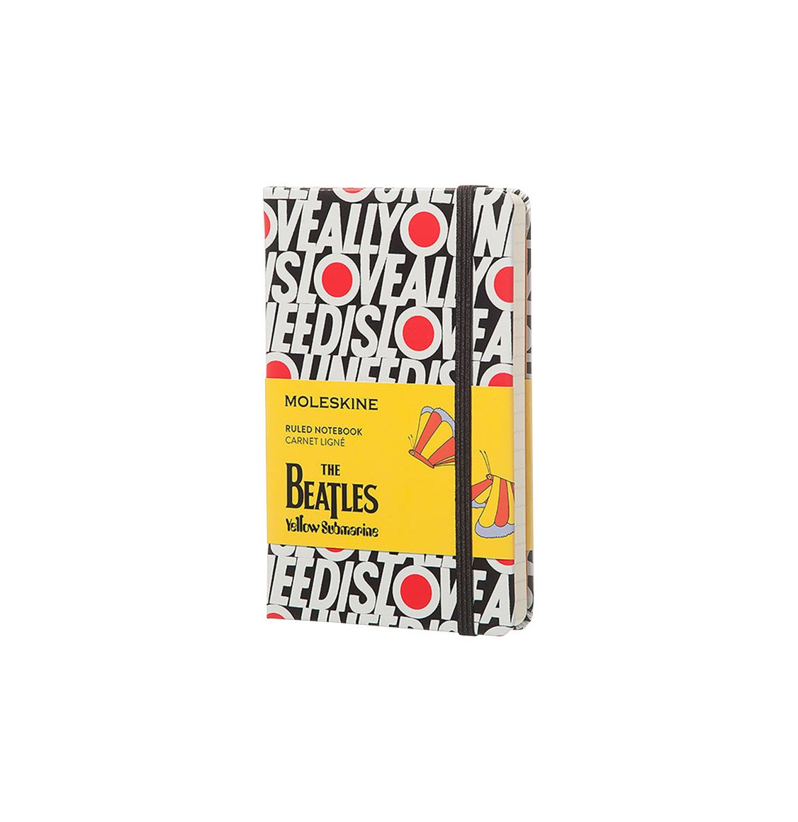 Moleskine The Beatles Limited Edition Pocket Ruled Notebook Black – All You Need Is Love