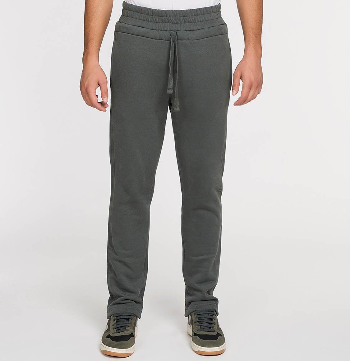 The Project Garments Regular Fit Cotton Drawstring Sweatpants Khaki