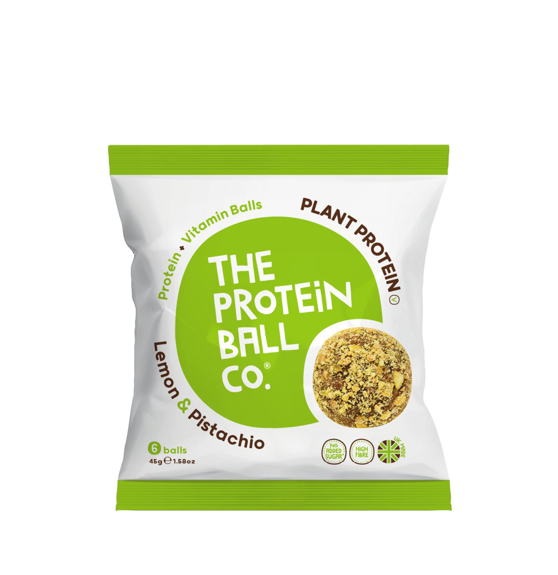 The Protein Ball Co. Lemon And Pistachio Plant Protein Vegan Balls 45g
