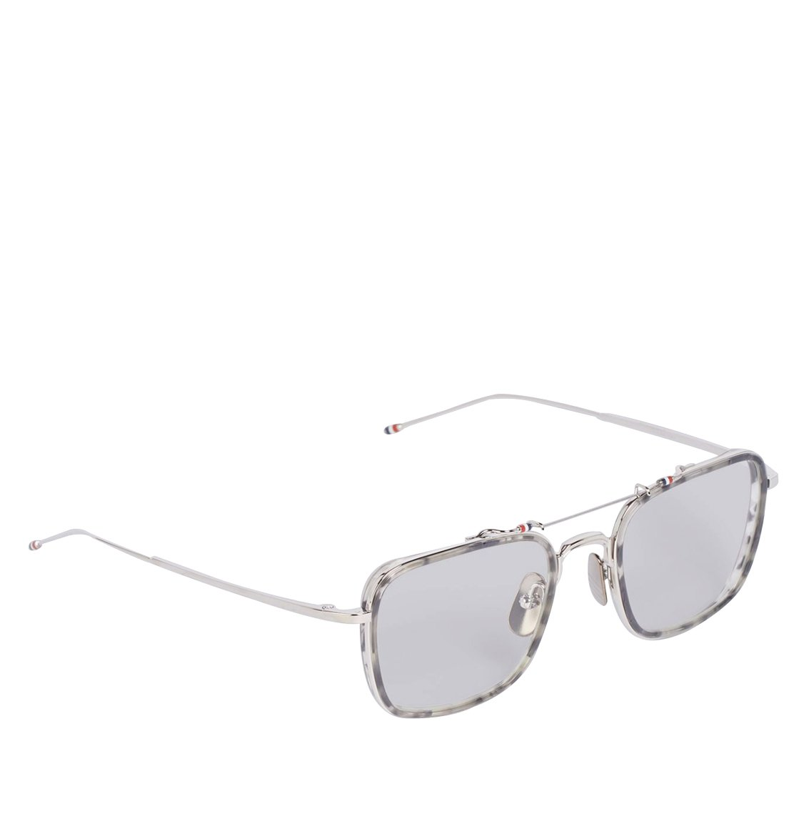 Thom Browne 53 Square Frame Grey Tortoiseshell Sunglasses Γυαλιά Ηλίου