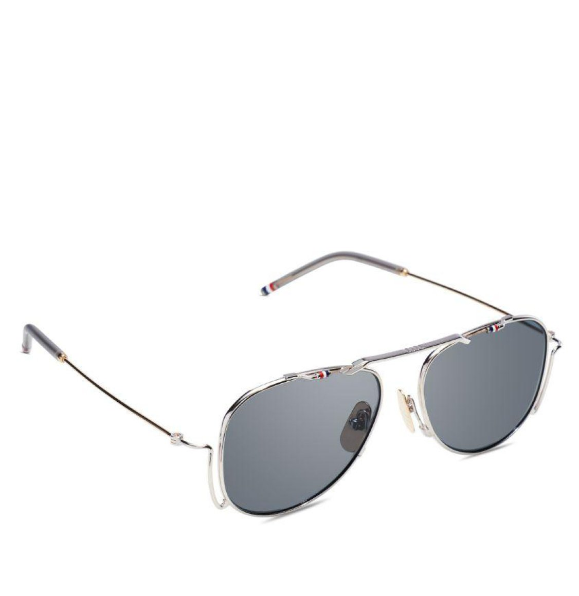 Thom Browne Silver White Gold Aviator Sunglasses Γυαλιά Ηλίου