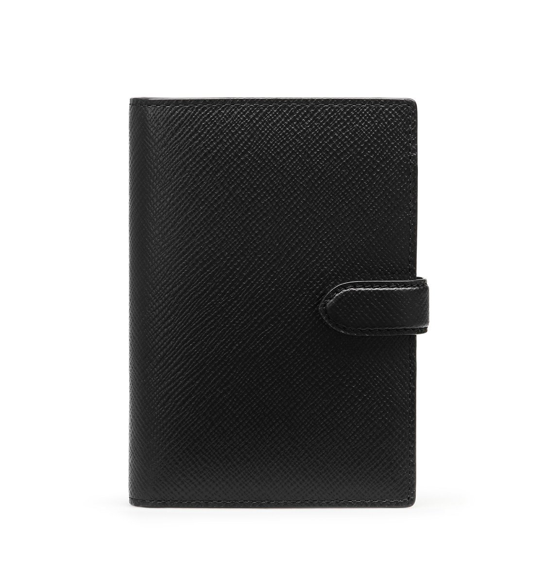 Smythson Panama Cross-Grain Leather Passport Cover Wallet