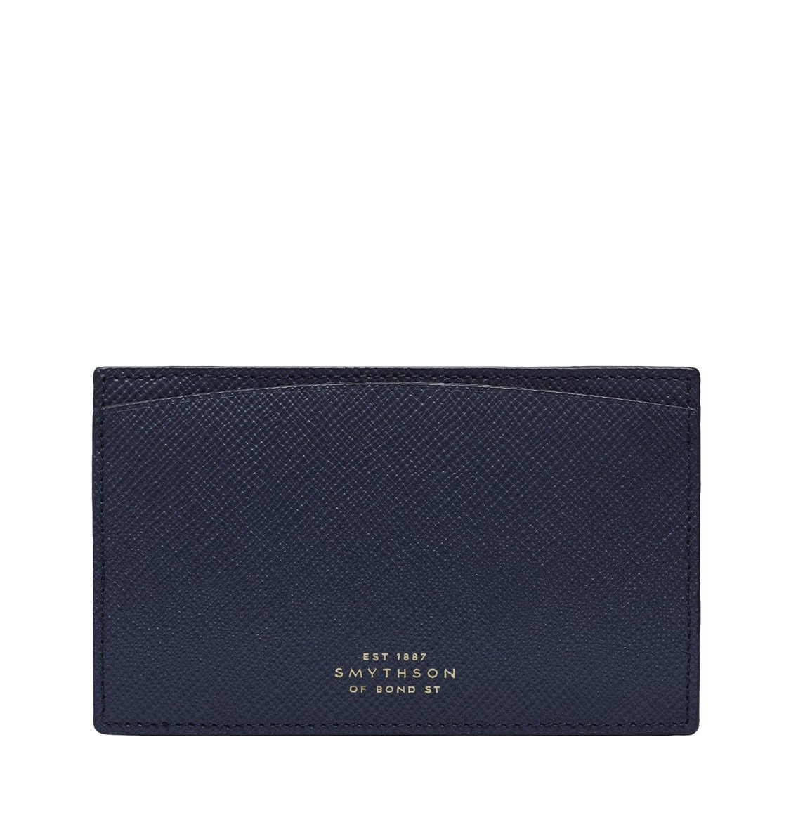 Smythson Panama Cross-Grain Leather Pocket Memo Navy