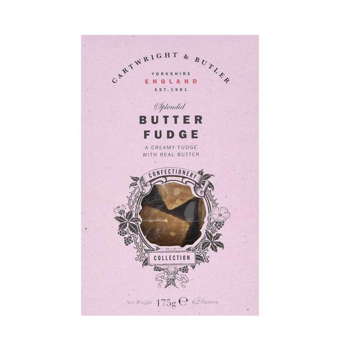 Cartwright and Butler Butter Fudge in Carton 175g