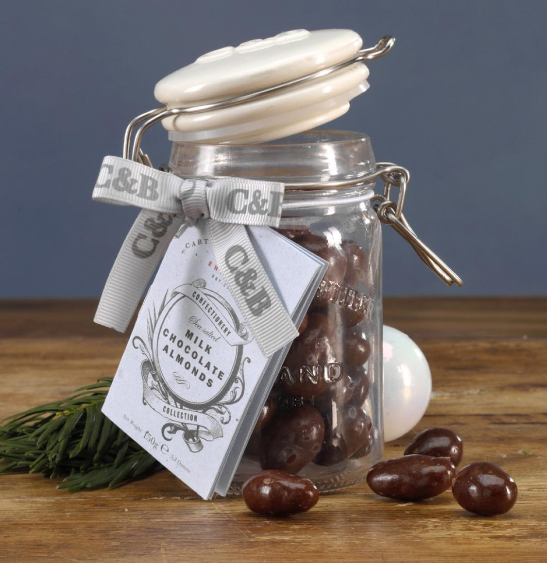 Cartwright and Butler Sea Salted Almonds in Milk Chocolate 150g