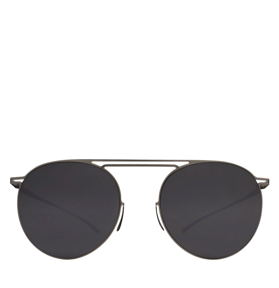 Mykita x Maison Martin Margiela Round-Frame Dark Silver Sunglasses