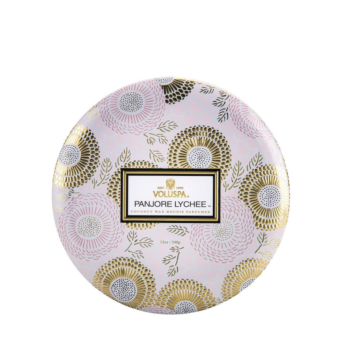 Voluspa Panjore Lychee 3 Wick Candle 340g