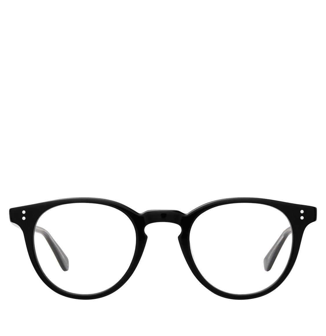 Garrett Leight Round Black Acetate Γυαλιά Οράσεως