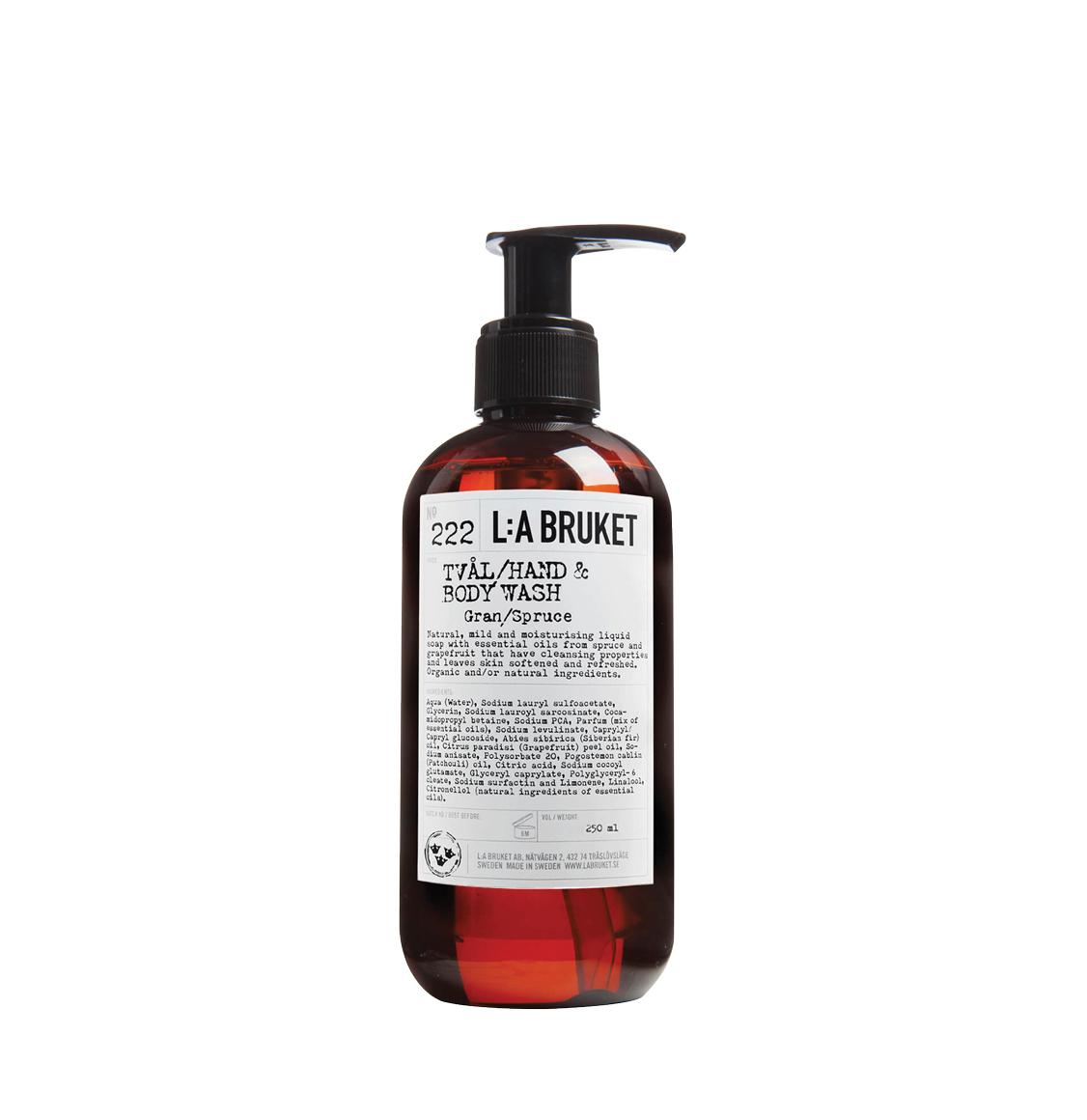 LA Bruket 222 Hand and Body Wash Spruce 240ml
