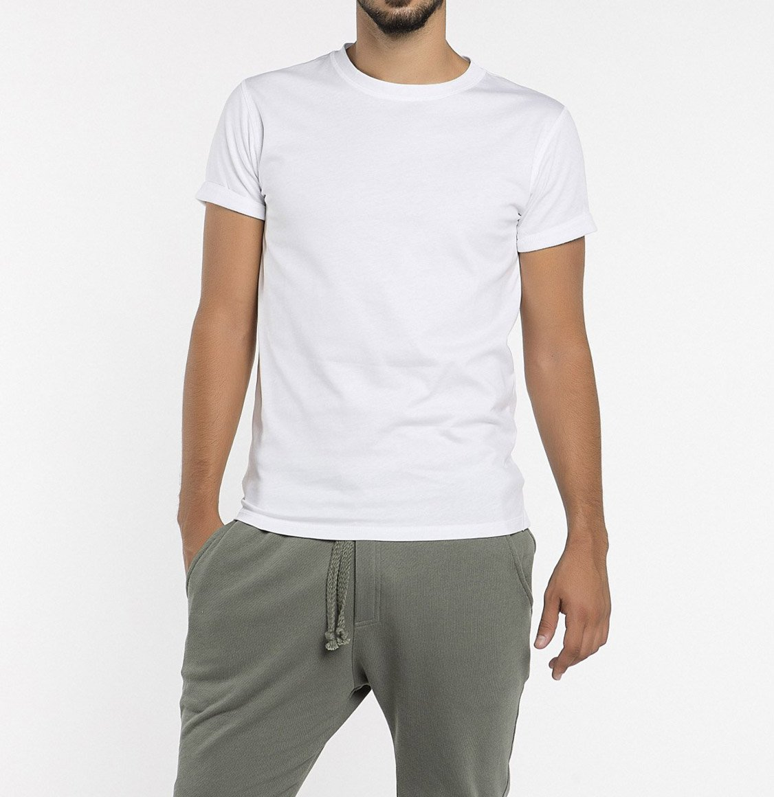 The Project Garments Crew Neck Ribbed T-Shirt White