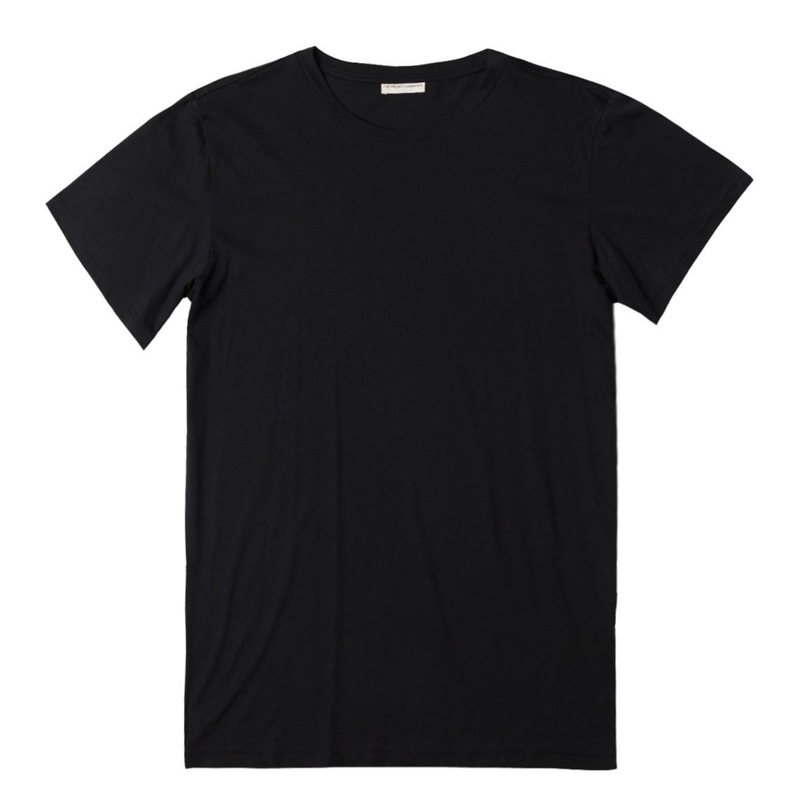 The Project Garments Crew Neck Organic Cotton T-shirt Black