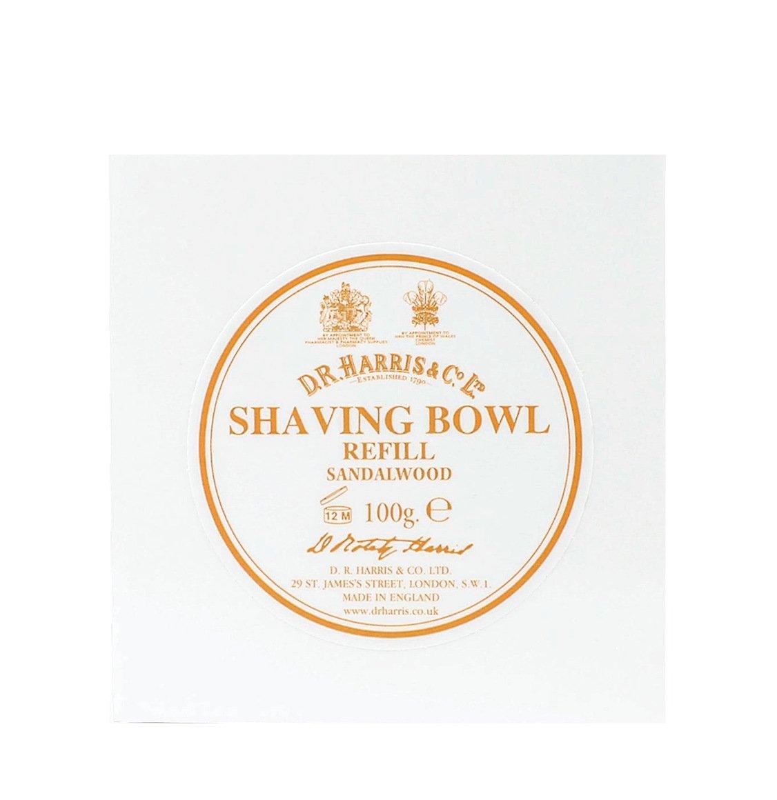 D R Harris Sandalwood Shaving Soap Refill 100g