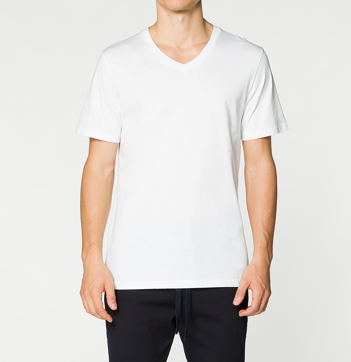 The Project Garments Modal Blend V-neck T-shirt White