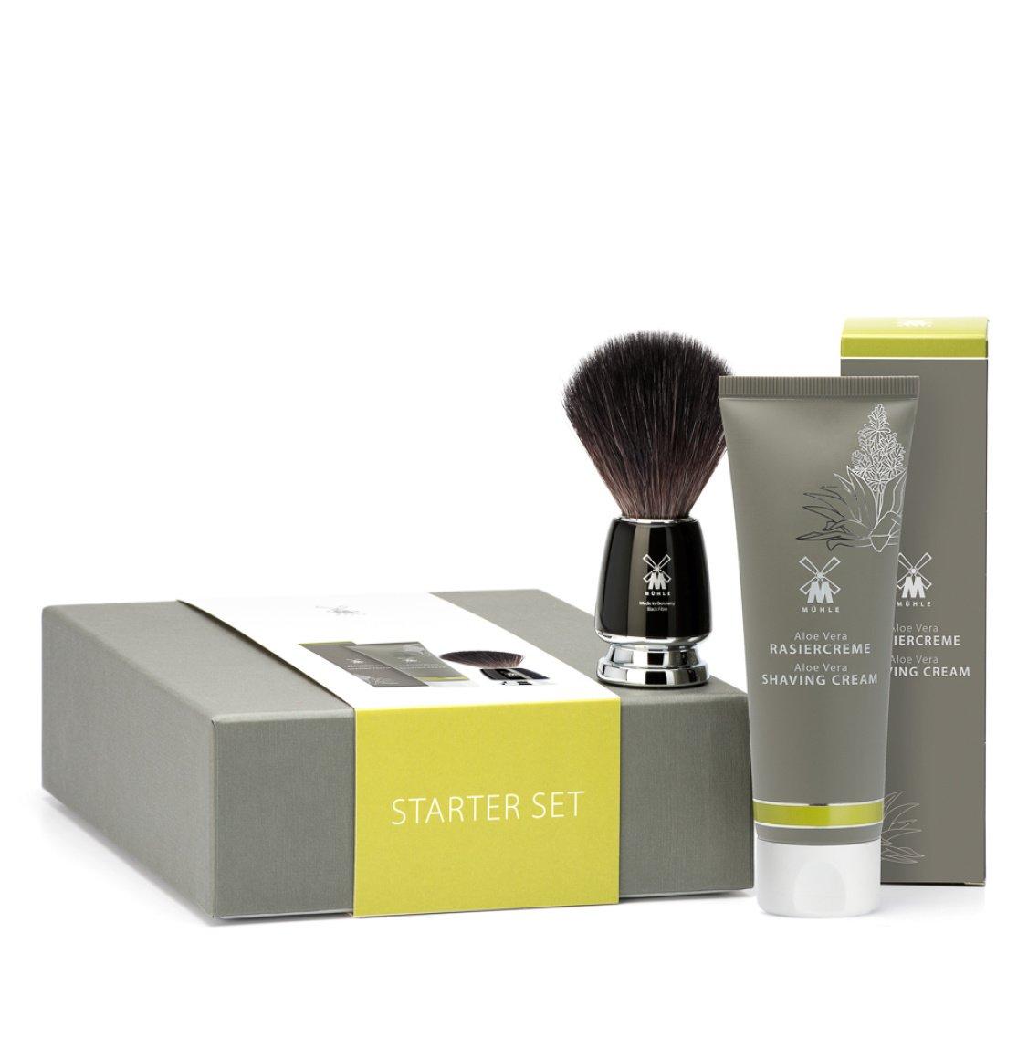 Muhle Rytmo Shaving Brush With Aloe Vera Shaving Cream 75ml Starter Set