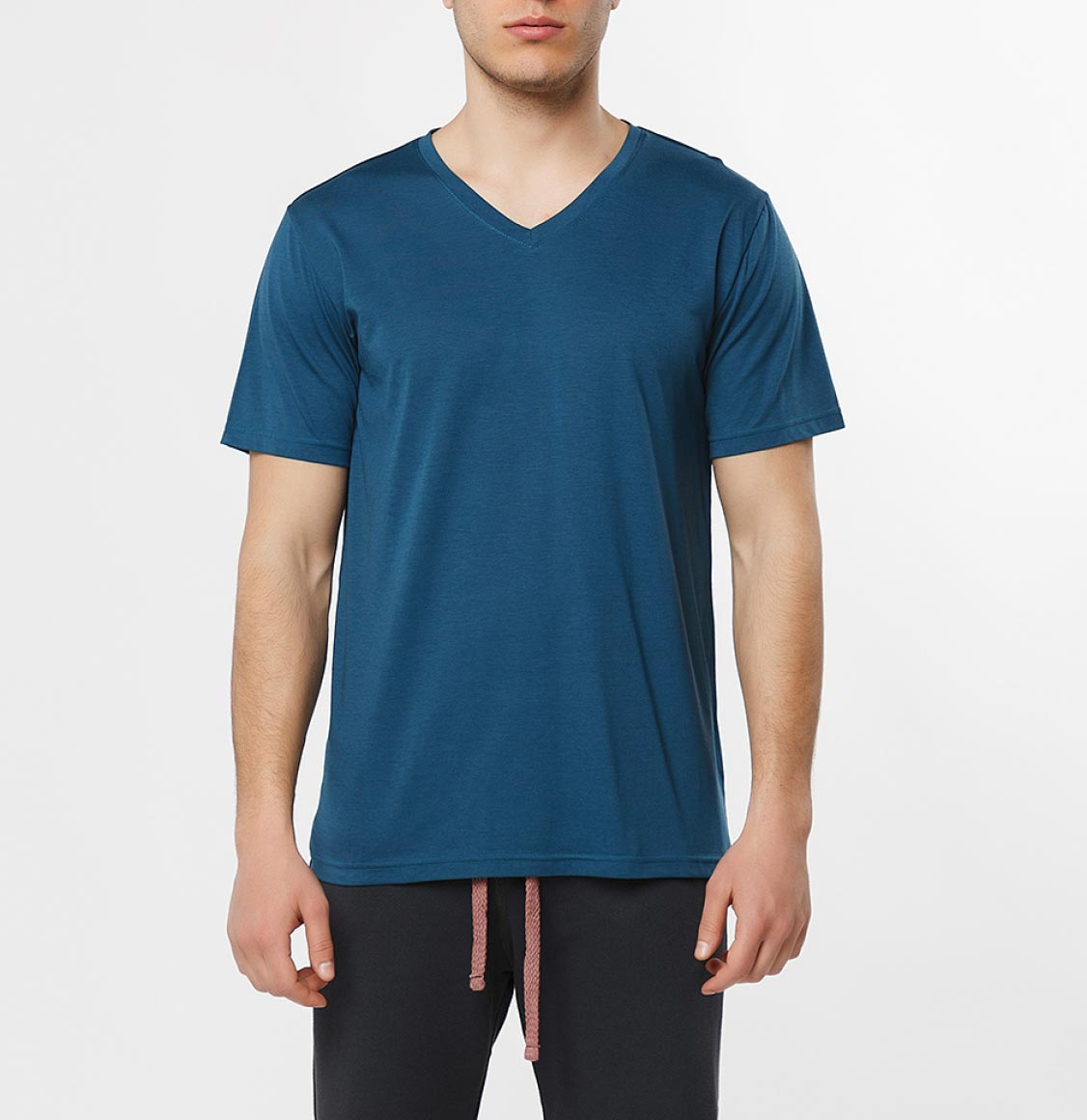 The Project Garments Organic Cotton V-neck T-shirt Blueberry