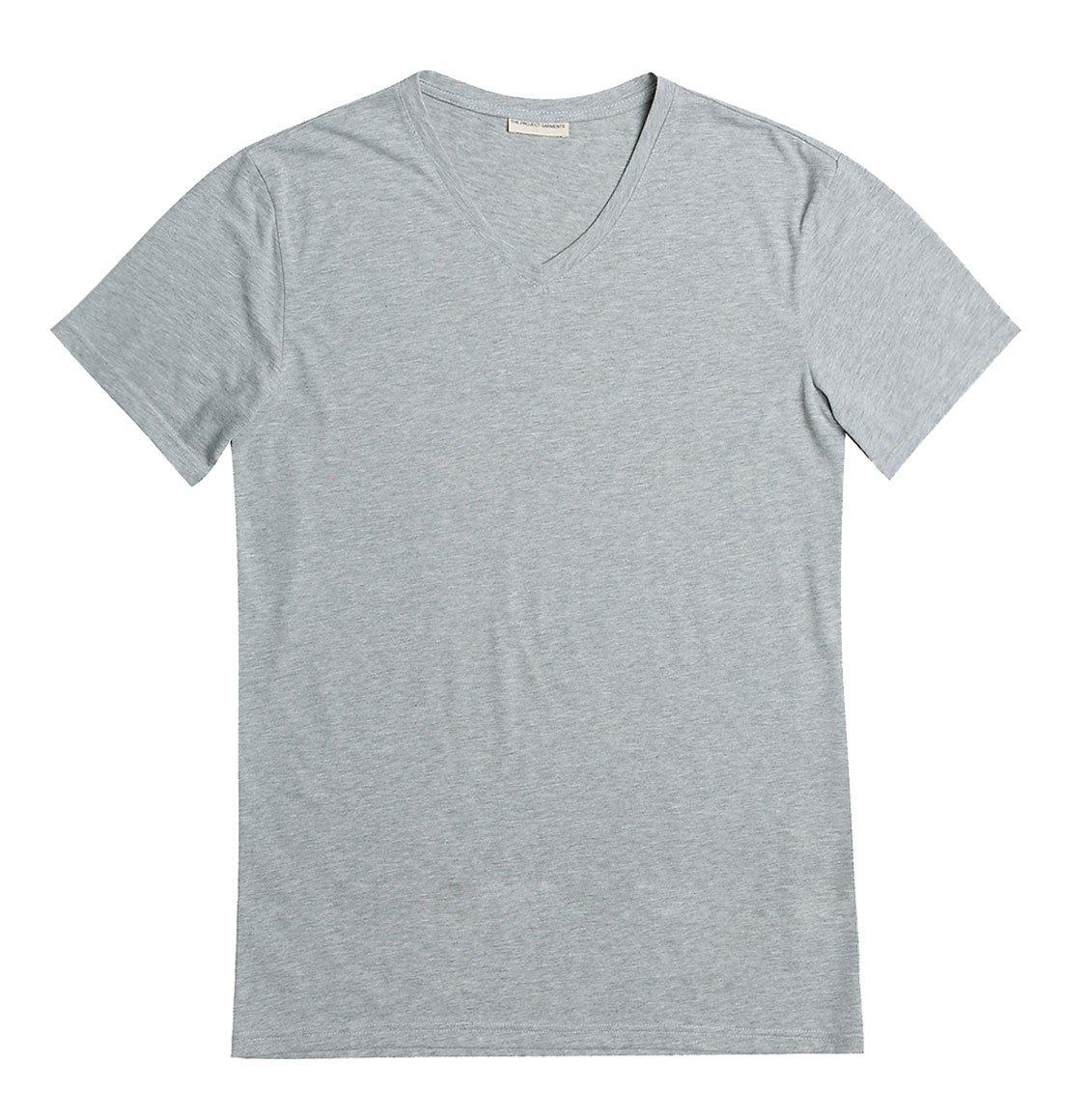 The Project Garments Organic Cotton V-neck T-shirt Melange Grey