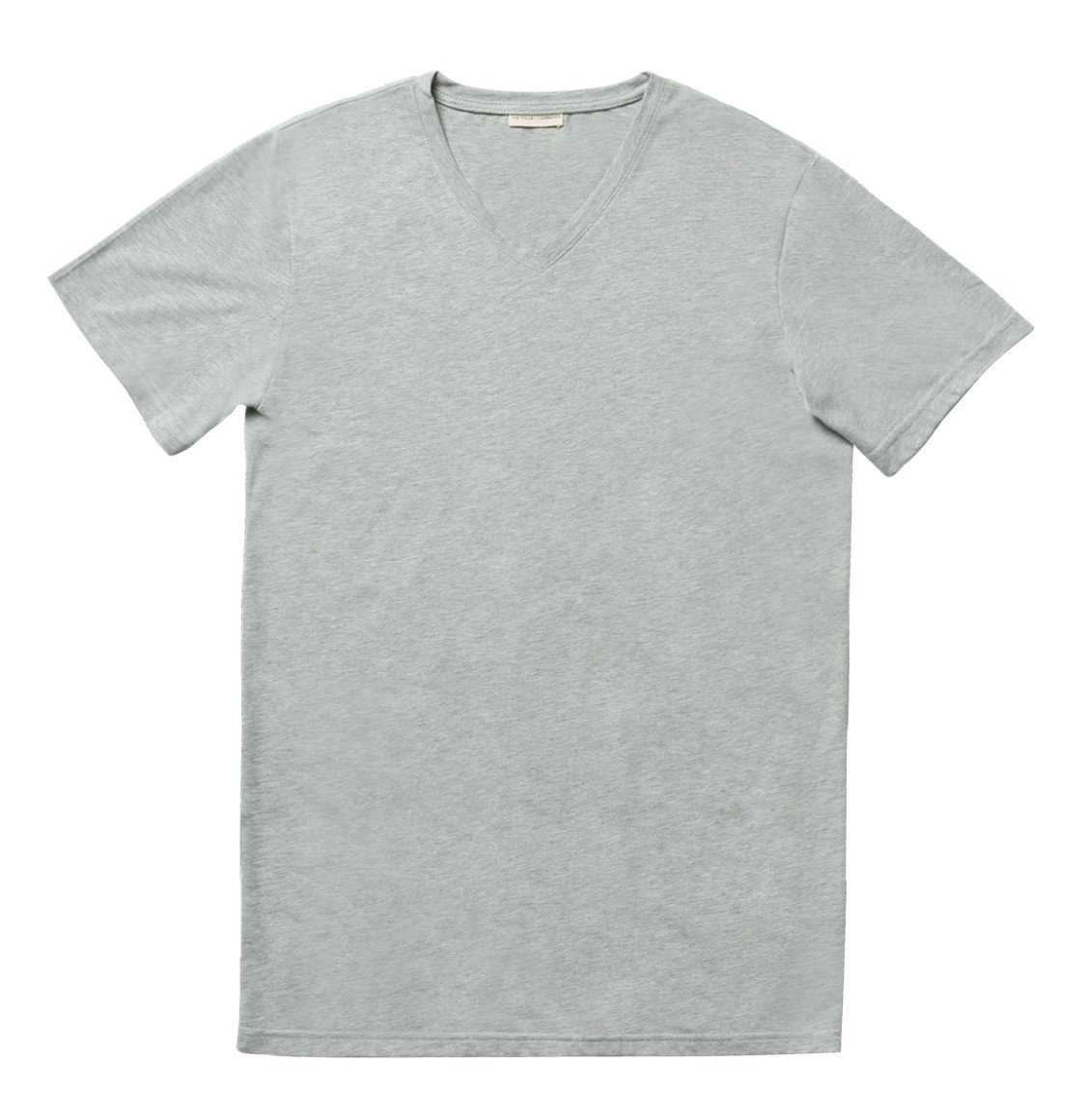 The Project Garments Regular Fit Organic Cotton V-neck T-shirt Melange Grey