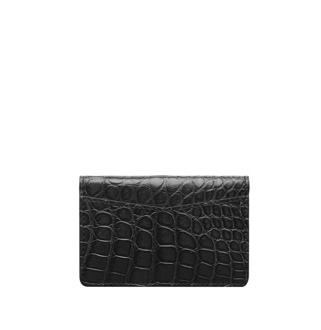 The Project Garments Cardholder in Black Alligator Leather