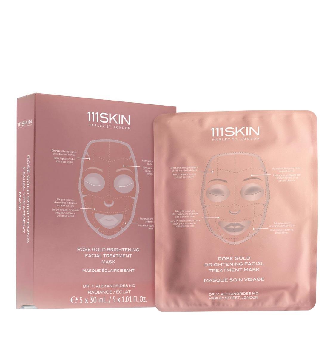 111Skin Rose Gold Brightening Facial Masks Box 5 x 30ml