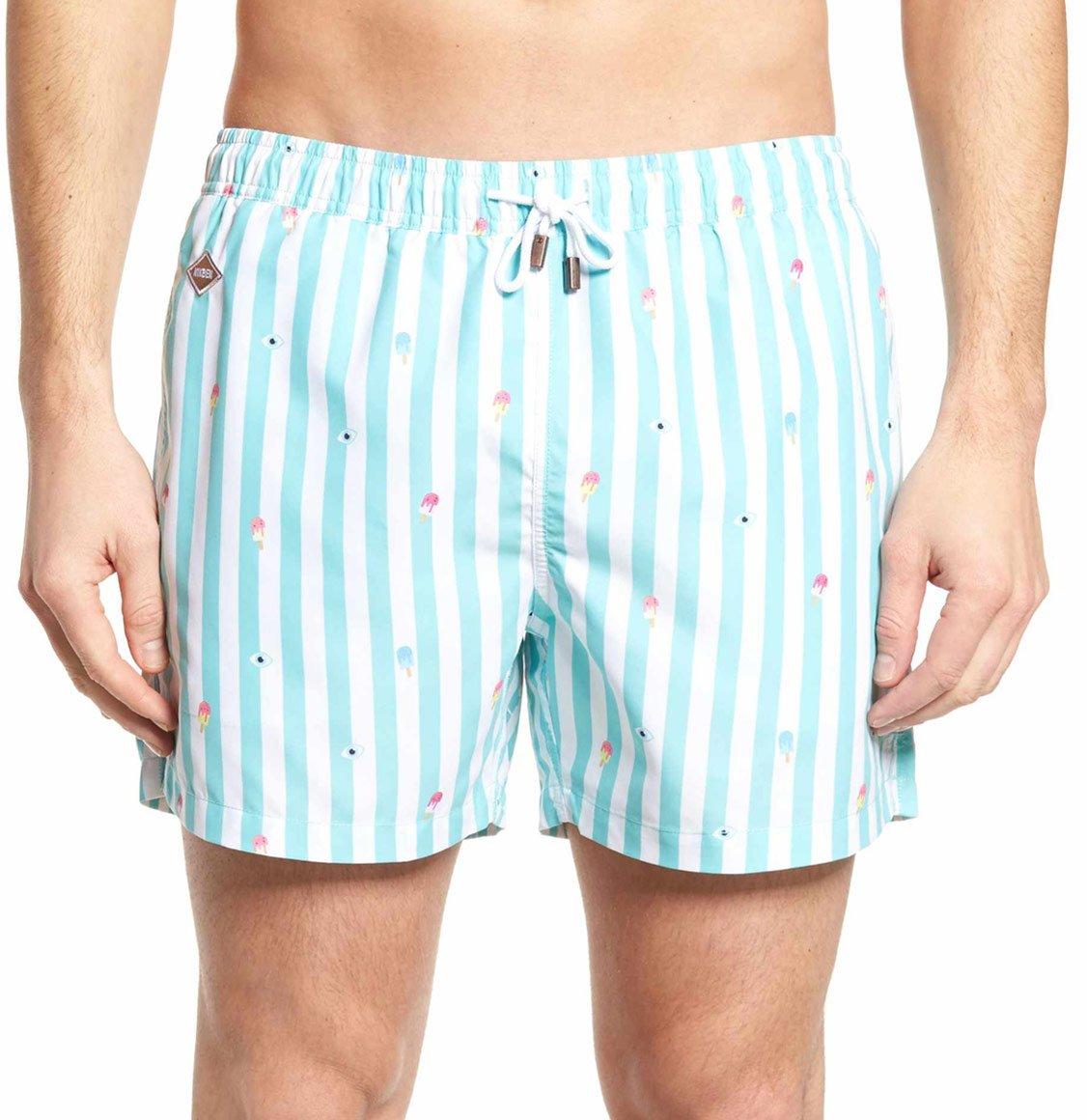 Nikben Eyes Cream Blue Swim Shorts