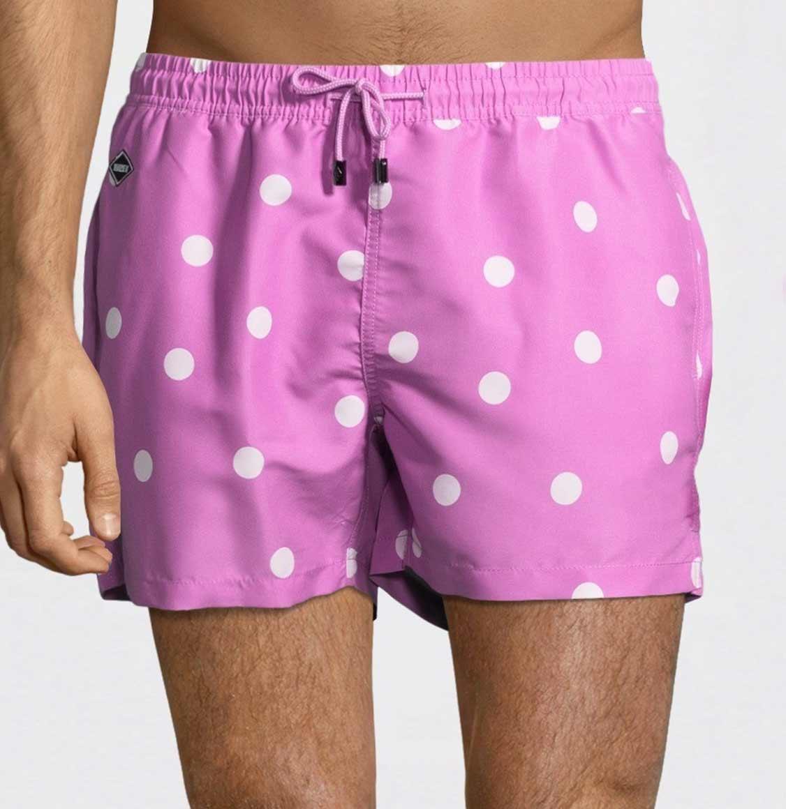 Nikben Pink Dot Swim Shorts Pink