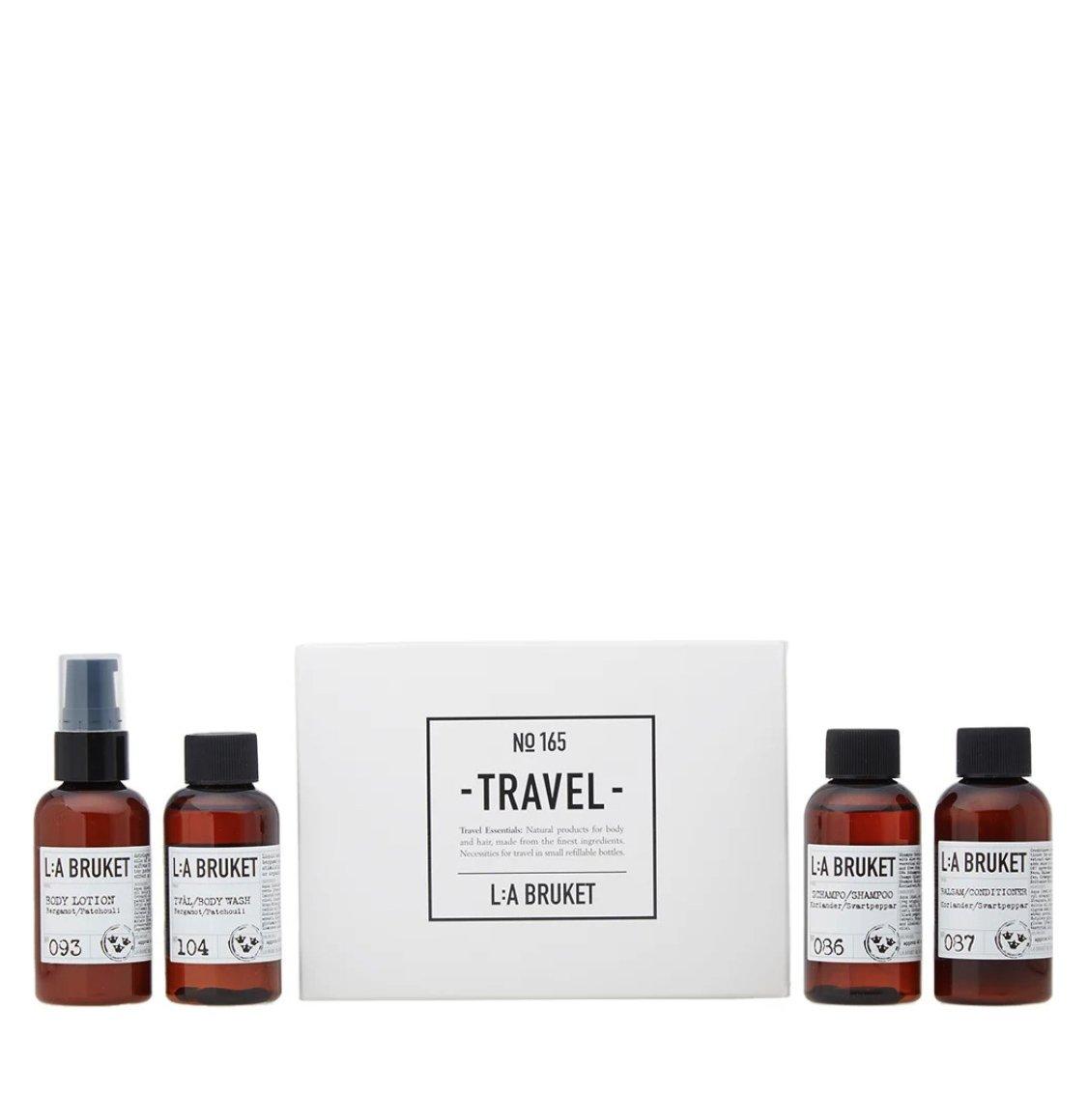 LA Bruket Travel Kit | Body Wash 60ml | Body Lotion 60ml | Shampoo 60ml | Conditioner 60ml