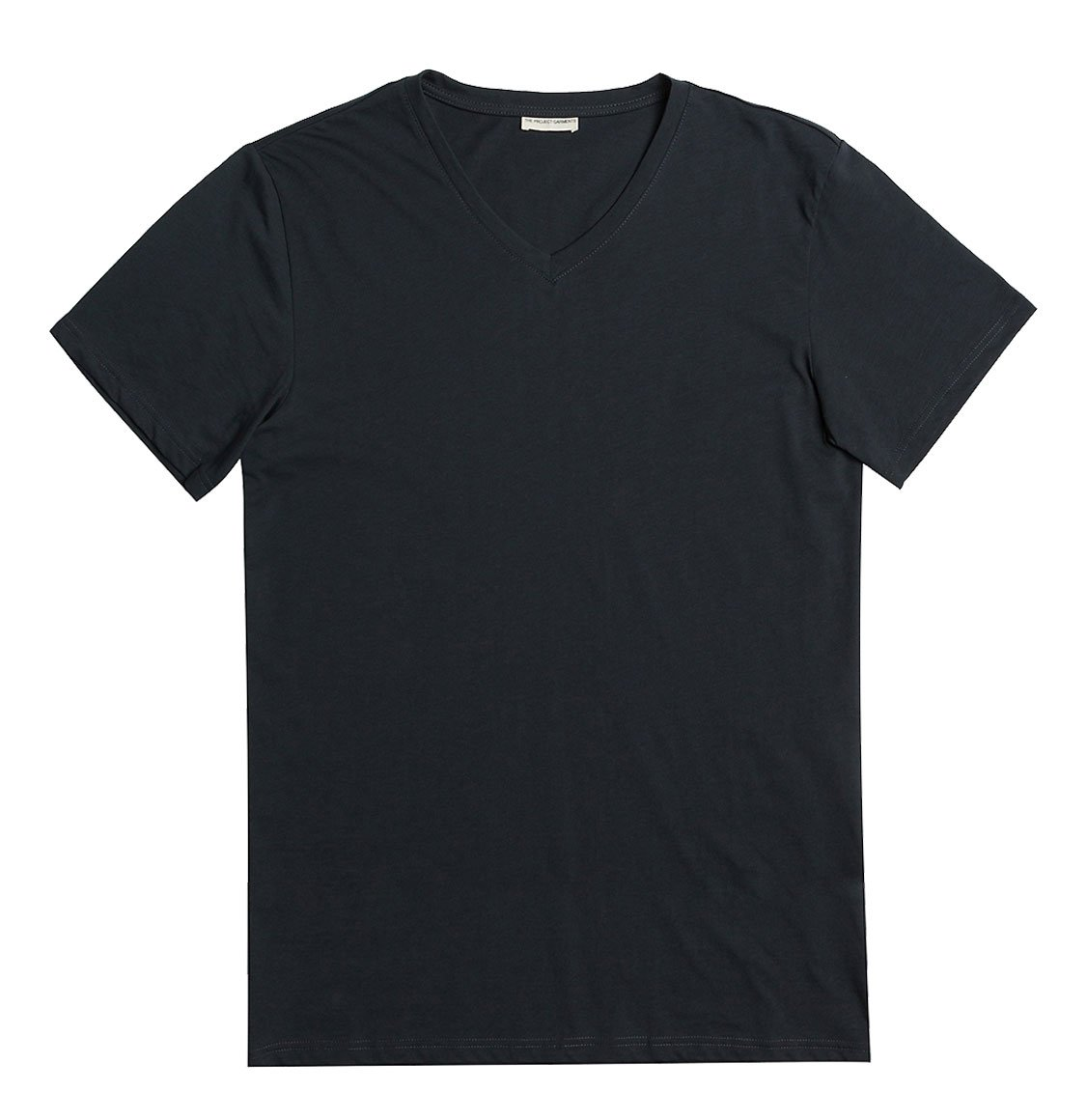 The Project Garments Organic Cotton V-neck T-shirt Charcoal Grey