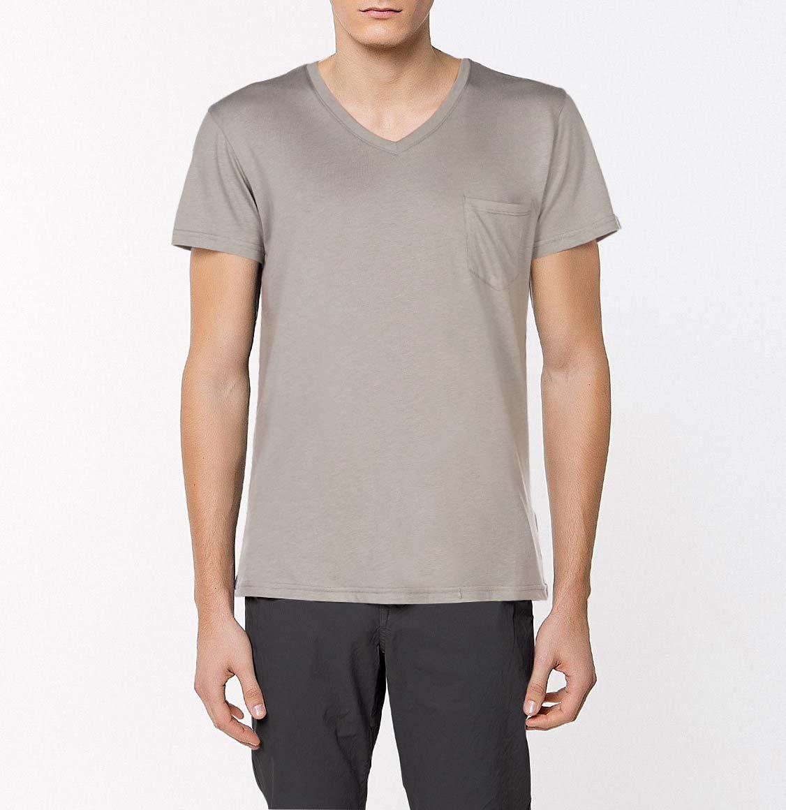 The Project Garments Modal Blend V-neck Pocket T-shirt Grey