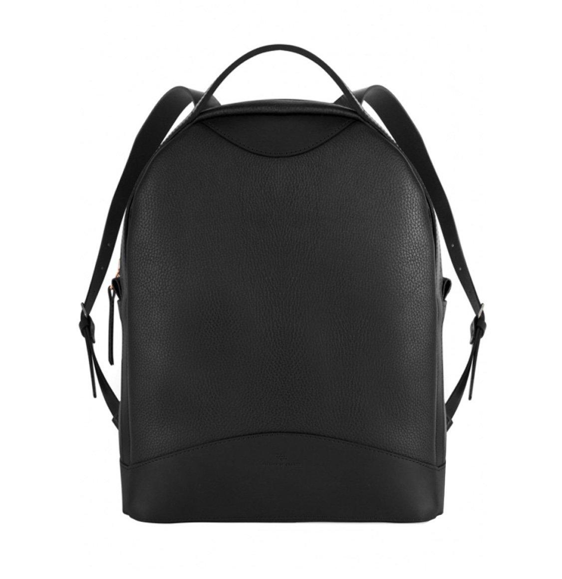 Atelier De L' Armee Black Leather Luxury Backpack