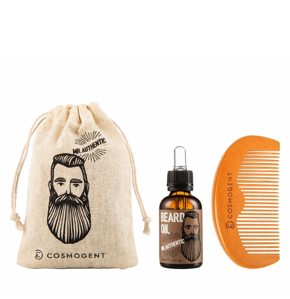 Cosmogent Mr Authentic Bundle Beard Oil 30ml And Beard Comb