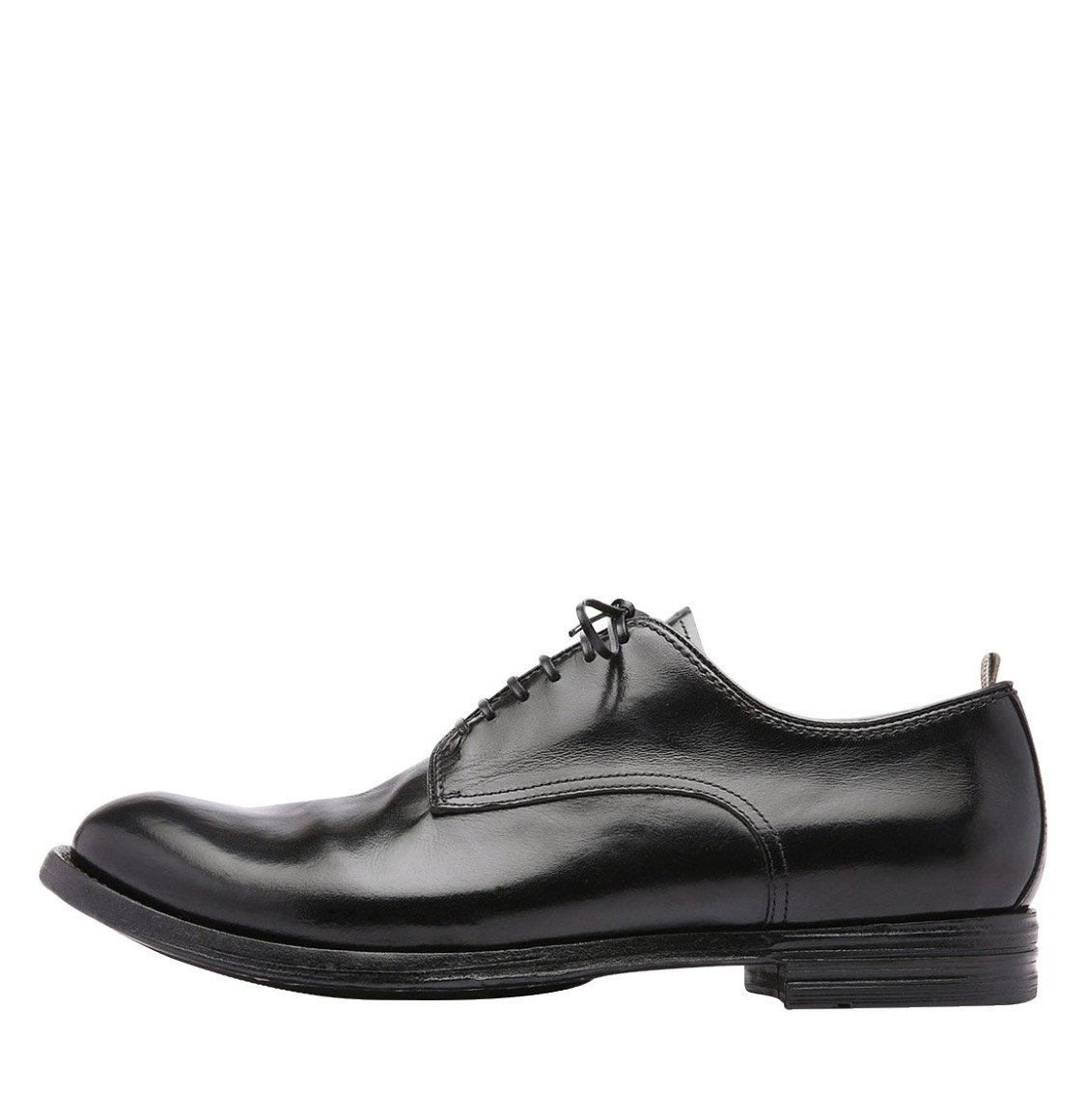 Officine Creative Anatomia Derby Leather Shoes Black